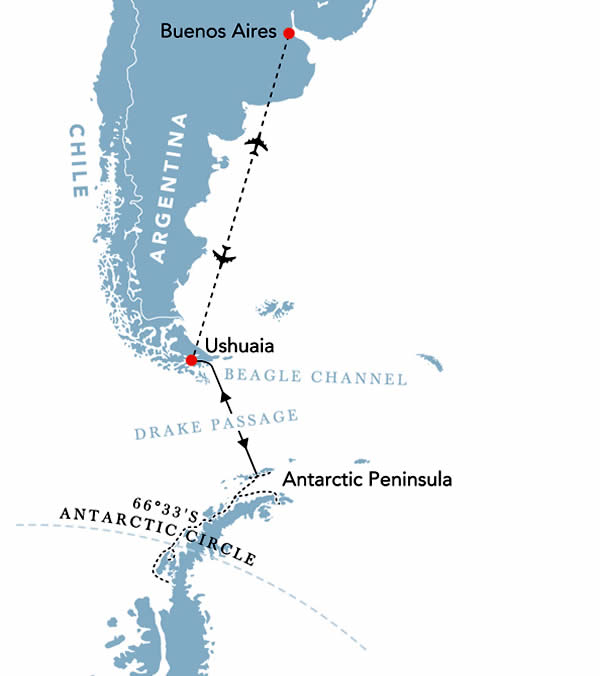 Polar Circle Expedition Map
