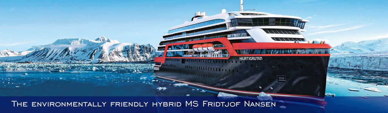 The environmentally friendly hybrid MS Fridtjof Nansen