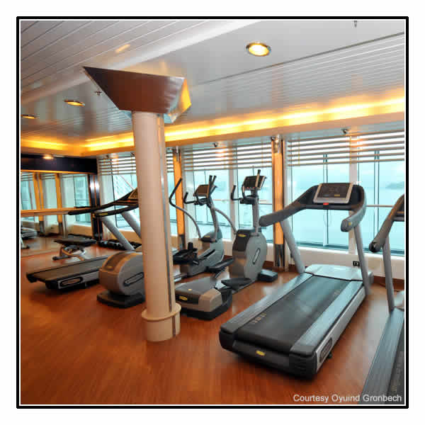 The gym on board MS Fram