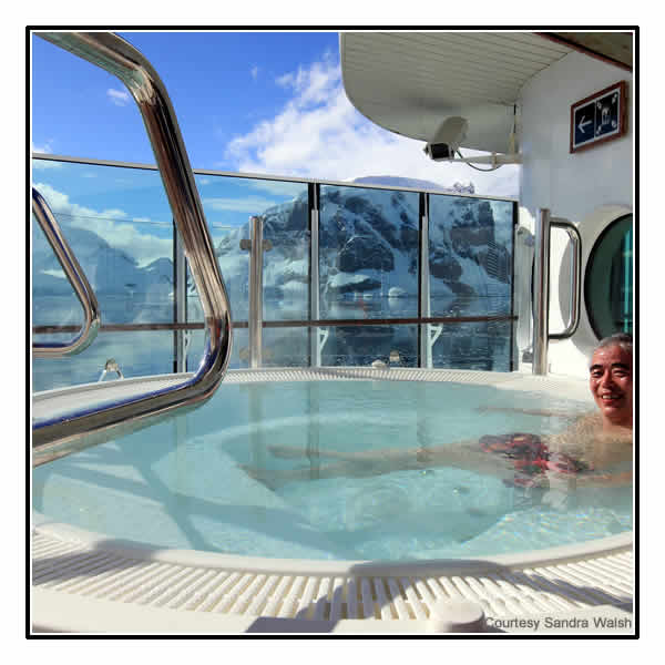 The on-deck Jacuzzi