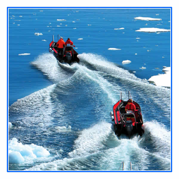 Polar Cirkel boats for shore landings