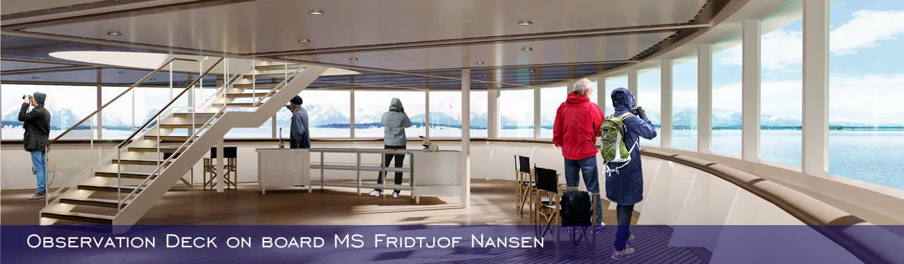 Observation Deck on board MS Fridtjof Nansen